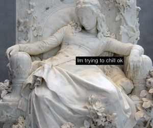 chill, grunge, and statue image