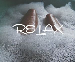 relax, bath, and bubbles image
