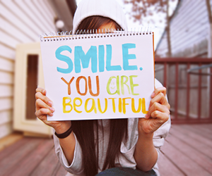 beautiful, girl, and smile image