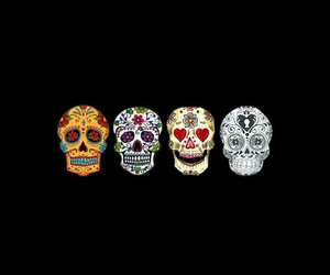 colorful, pretty, and skull image