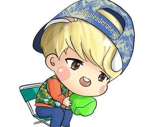fan art, SHINee, and Onew image