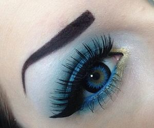 blue, gold, and eye image