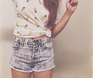 fashion, high waisted shorts, and outfit image