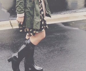 fashion, floral, and layers image