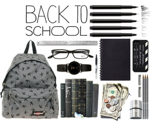 backpack, gir, and back to school image