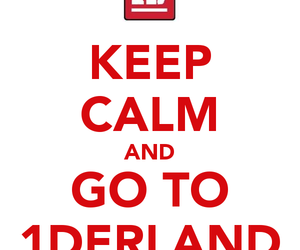 keep calm, red, and 1d image