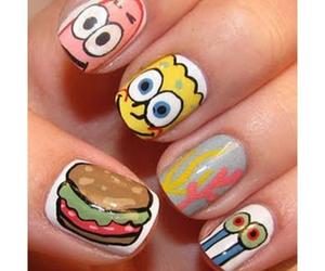 nails, spongebob, and patrick image