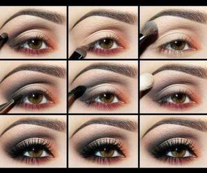 eye makeup, makeup tutorial, and eyeshadow image