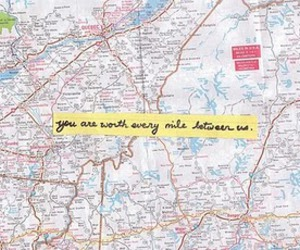 love, map, and distance image