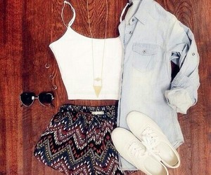 blouses, denim, and shorts image
