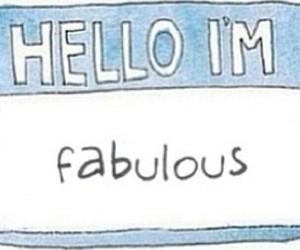 fabulous and hello image