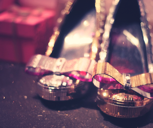 shoes, bow, and glitter image