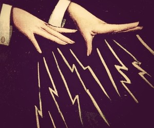 hands, magic, and lightning image