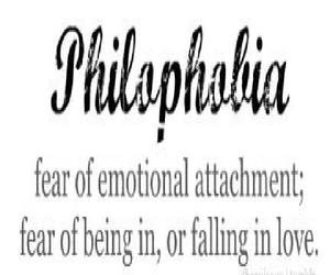 fear, sad, and philophobia image