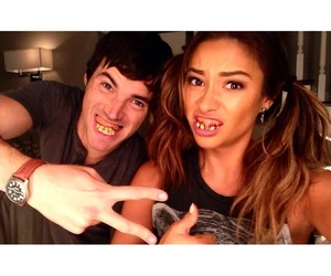 shay mitchell, pretty little liars, and ian harding image
