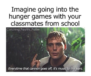 funny, hunger games, and school image