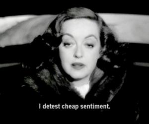 Bette Davis, cheap, and sentiment image