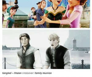 frozen, tangled, and anna image
