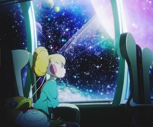 anime, galaxy, and space image