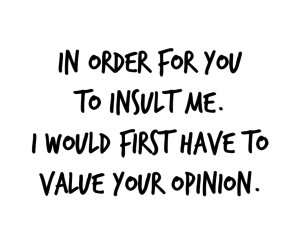 insult, opinion, and order image