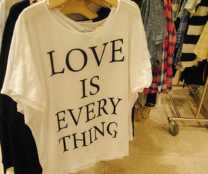 love, text, and shirt image