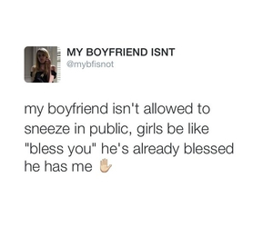 boyfriend, funny, and tweets image