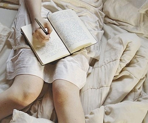 alone, books, and diary image