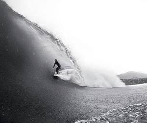 surf, wave, and surfer image