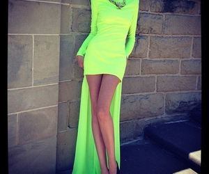dress, neon, and green image