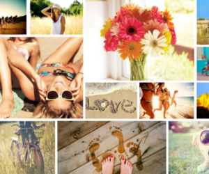 background, summer, and beach image