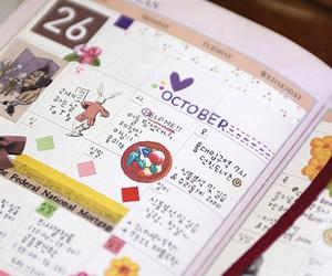 alice in wonderland, calendar, and kawaii image