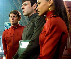 star trek, zachary quinto, and zoe saldana image