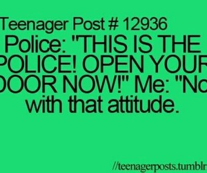 police, attitude, and funny image