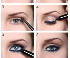 eyeliner, girl, and make up image