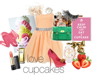 chanel, turquoise, and cupcakes image