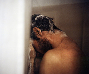 man, sexy, and shower image