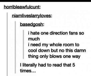 one direction, fan, and funny image