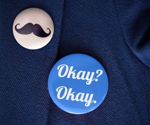 badges, blue, and okay image
