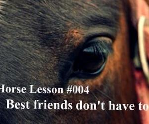 best friends, horse, and words image