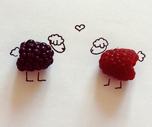 animal, raspberry, and sheep image