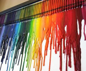 crayon, art, and rainbow image