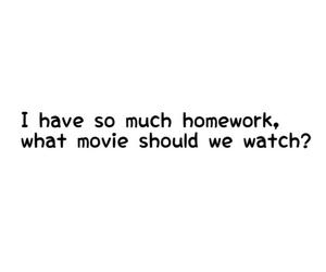homework, movie, and school image