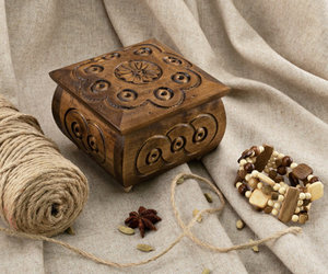 carved, hand, and jewelry box image
