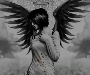 angel, dark, and girl image