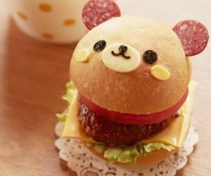 food, burger, and kawaii image