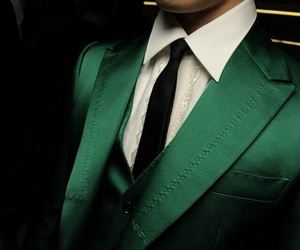 green and suit image