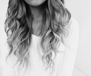 beauty, black and white, and curly hair image
