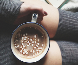 winter, hot chocolate, and coffee image