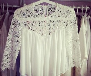 white, fashion, and top image