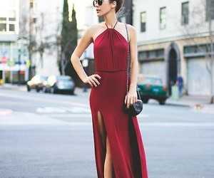 dress, fashion, and maxi image